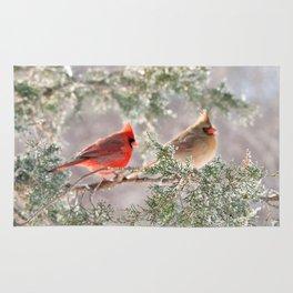 Hoarfrost Cardinals Rug
