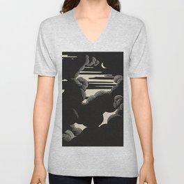 Félix Vallotton Wolken, 1890 Midnight Moon Night Clouds Unisex V-Neck