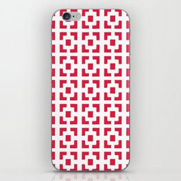 Red Tile pattern iPhone Skin