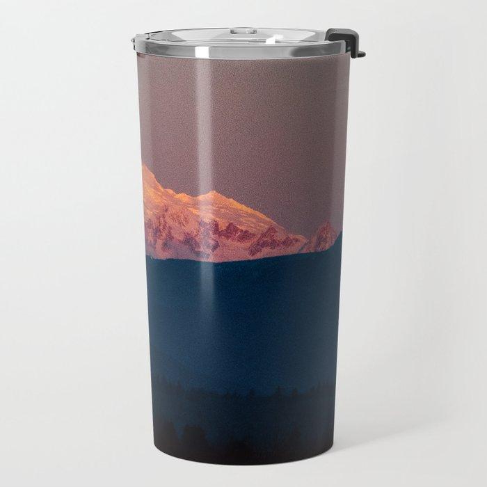 Sunset on Mount Baker Travel Mug