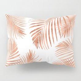 Rose Gold Palm Leaves Pillow Sham