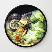 fruit Wall Clocks featuring FRUIT by Anne Hviid Nicolaisen
