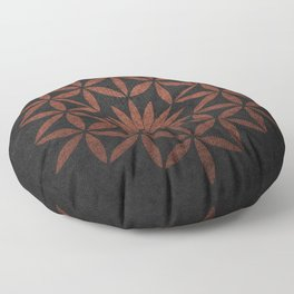 The Flower of Life - Ancient copper Floor Pillow