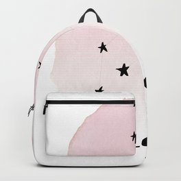 Leo Star sign, Constellation, Astrology, Horoscope, Zodiac Pink Watercolor Backpack