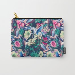 Unicorn and Floral Pattern Carry-All Pouch