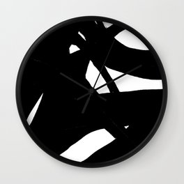 Black & White Abstract Modern Art Wall Clock