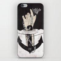 bondage iPhone & iPod Skins featuring Bondage of self by kernmistress