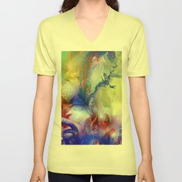 Coral Reef Yellow Blue Unisex V-Neck