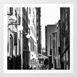 Pike Place (B+W) Art Print