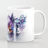 gengar Mugs featuring Nidorino vs Gengar by Sa-Dui
