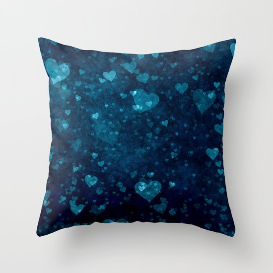 Blue Love Throw Pillow