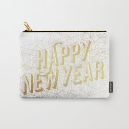 Happy New Year – White Carry-All Pouch