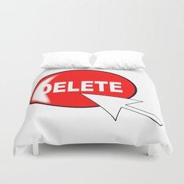 Computer Icon Delete Duvet Cover