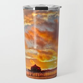 California Dreaming (cropped) ~ Huntington Beach Pier Travel Mug