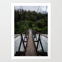 bridge Art Prints featuring Bridge by Michelle McConnell