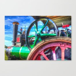 Clayton and Shuttleworth Traction Engine Art Canvas Print
