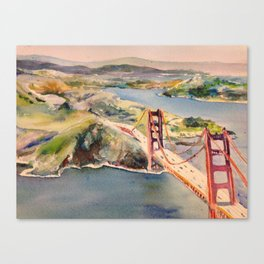Marin California and the Golden Gate circa 1960 Canvas Print
