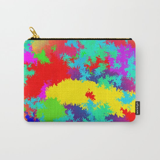 Colourful Random Trippy Pattern Carry-All Pouch
