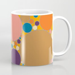 Circles Filled With Warm Summer Colours Coffee Mug