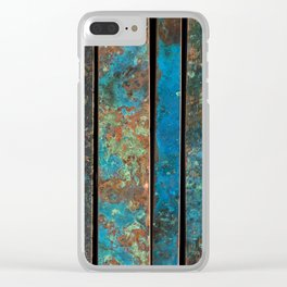 Metal Patina Stripes #1 Clear iPhone Case