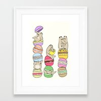 macaroons Framed Art Prints featuring Macaroons by or livneh