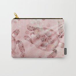Glamour Turtle Rose Gold Carry-All Pouch