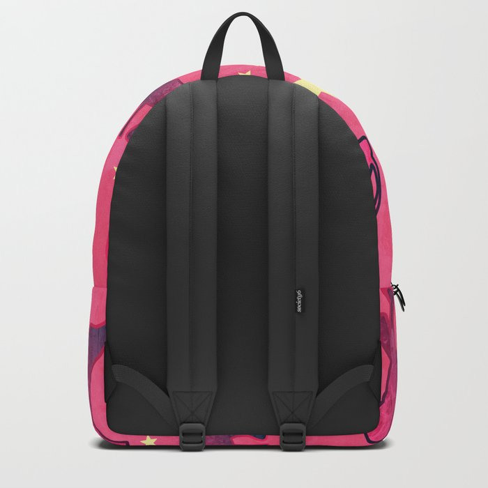 Elephants Stars Pattern Backpack