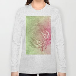 Pink and green wattle and kaleidoscope Long Sleeve T-shirt