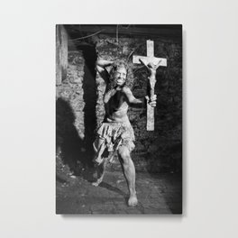 Naked Exorcist by MB Metal Print