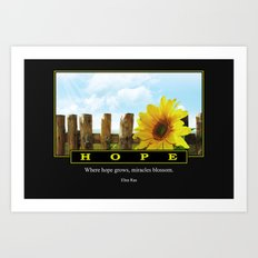 Where Hope Grows Art Print