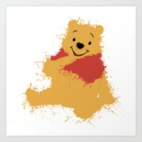 winnie the pooh Art Prints featuring Winnie The Pooh by DanielBergerDesign