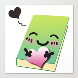 Book Emoji Love Canvas Print