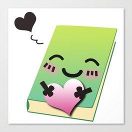 Book Emoji Love Canvas Print