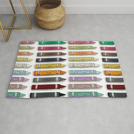 Colorful Crayons Rug