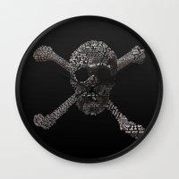 the goonies Wall Clocks featuring The Goonies Movie Art Print by Skahfee Studios