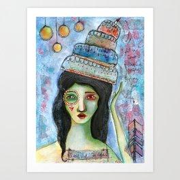 Don´t drop the cake! Art Print