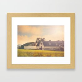 Morning At The Dairy Framed Art Print