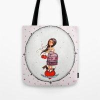 hello beautiful Tote Bags featuring hello beautiful by elsbeth eksteen