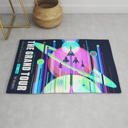 The Grand Tour : Vintage Space Poster Cool Rug