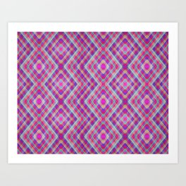 MULTI COLOR DIAMOND KALEIDOSCOPE PRINT Art Print