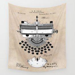 patent art type writing machine Wall Tapestry