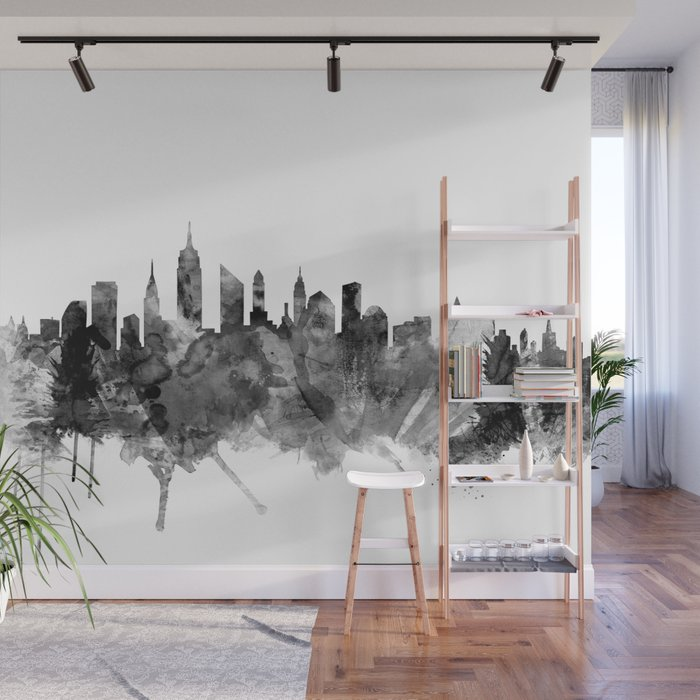 New York City Skyline Wall Mural by artpause Society6