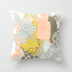 Upton - Abstract painting perfect for dorm room phone case abstract art and feminine abstract art Throw Pillow