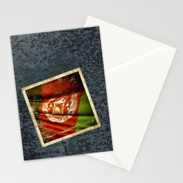 Grunge sticker of Afghanistan flag Stationery Cards