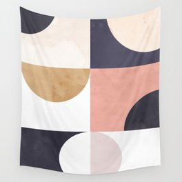 Geometric Moontime 1 Wall Tapestry
