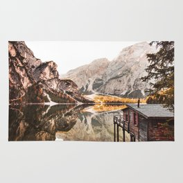 braies lake Rug