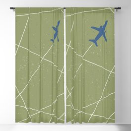 The Jet Set - Moss Blackout Curtain