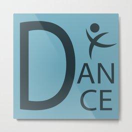 Blue Dance Symbol Metal Print