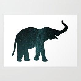 Universe Elephant Art Print