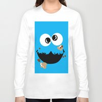 cookie monster Long Sleeve T-shirts featuring Cookie Monster  by Lyre Aloise